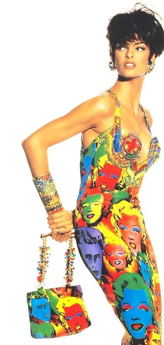 linda-evangelista-in-the-andy-warhol-inspired-marilyn-dress-by-gianni-versace-photographed-by-irving-penn-1991